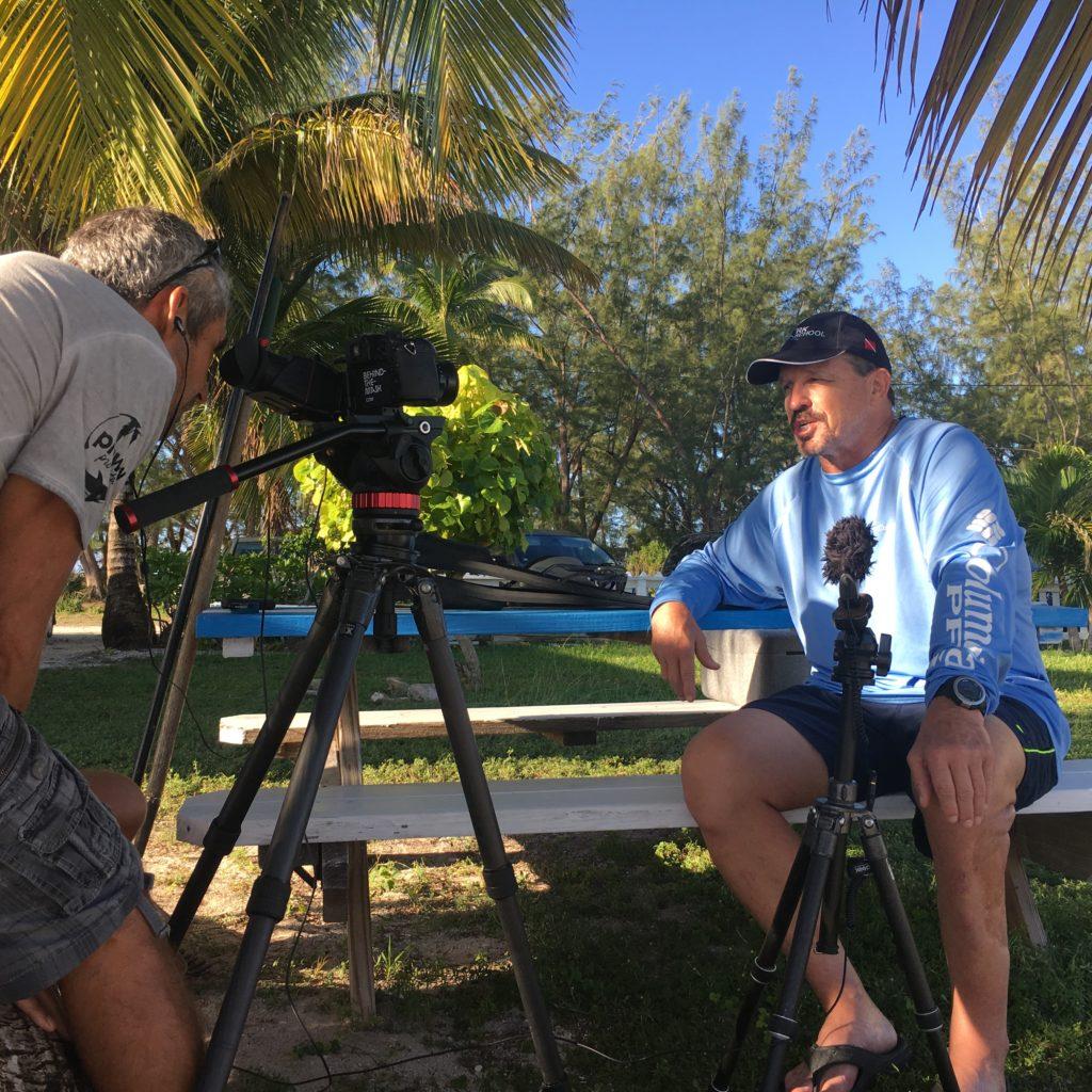 Dr. Erich Ritter während einem Interview.