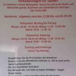 Hinweise der Gemeinde Berlingen für Taucher. (Tauchplatz: Wildsau)